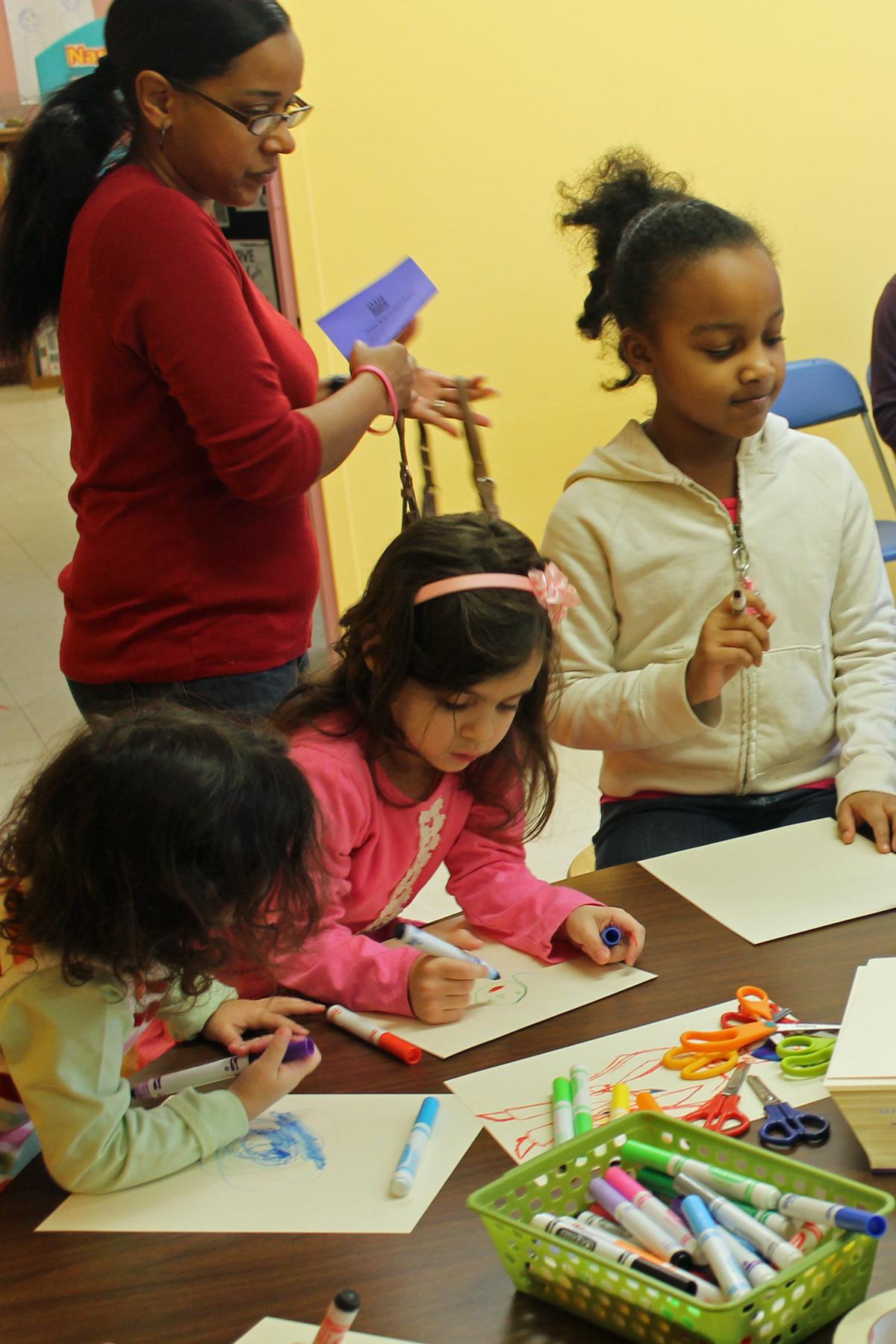 MLK_2015~3 Girls making puppets