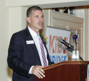 Brian O'Reillly of Philadelphia Insurance, honoree, speaks at the 10th Annual Kidsbridge Tolerance Center's Humanitarian Awards Celebration held at the Trenton Country Club in Trenton, N.J. Thursday night, November 3, 2016. (Photo by Cie Stroud for Kidsbridge)