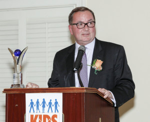 Hal English of Grand Bank, honoree, speaks at the 10th Annual Kidsbridge Tolerance Center's Humanitarian Awards Celebration held at the Trenton Country Club in Trenton, N.J. Thursday night, November 3, 2016. (Photo by Cie Stroud for Kidsbridge)