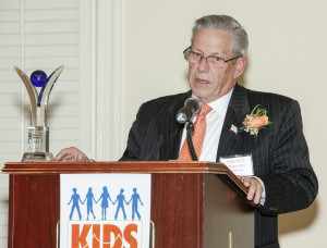 Ewing Mayor Bert Steinmann, honoree, speaks at the 10th Annual Kidsbridge Tolerance Center's Humanitarian Awards Celebration held at the Trenton Country Club in Trenton, N.J. Thursday night, November 3, 2016. (Photo by Cie Stroud for Kidsbridge)