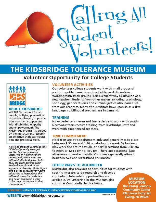 College Volunteer Poster