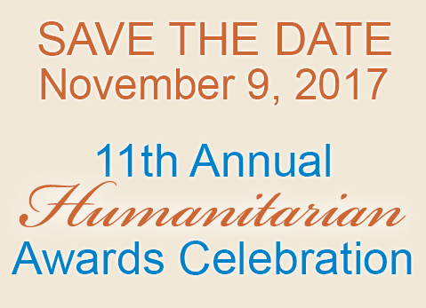 Save the date for the Humanitarian Awards